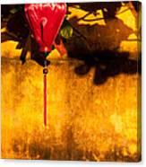 Ochre Wall Silk Lantern 03  Canvas Print