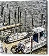 Ocnj Boats At Marina Canvas Print