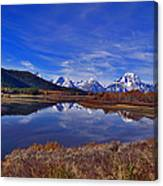 October At Oxbow Canvas Print