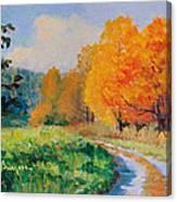 October Backroad Canvas Print