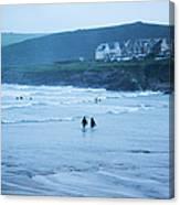 October Evening Surf Canvas Print