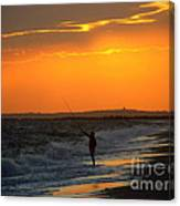 October Fishing Canvas Print