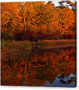 October Mirror Canvas Print