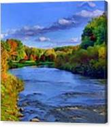 October On The Cuyahoga Canvas Print