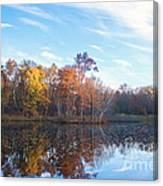 October Pond View Canvas Print