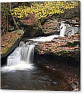 October Stop At Aaron's Cascade Canvas Print