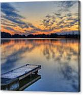 October Sunrise At Lake White Canvas Print