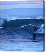 October Surf Canvas Print