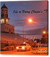 Ode To Harry Chapins Taxi Canvas Print