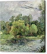 Oestervold Park, Copenhagen, 1885 Canvas Print