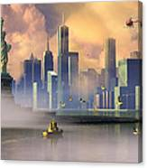 Of Stone And Steel Canvas Print