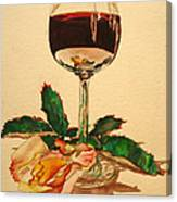 Of Wine And Roses Canvas Print