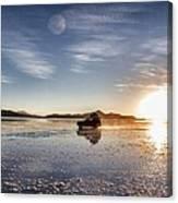 Off Road Uyuni Salt Flat Tour Dramatic Canvas Print
