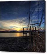 Off Season Sunset At The Lake Canvas Print