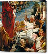 Offering To Ceres Goddess Of Harvest Canvas Print