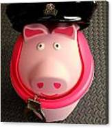 Officer Bacon Wants A Doughnut Canvas Print