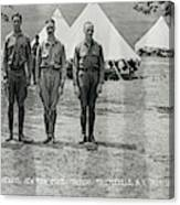 Officers At Camp Newayo, New York State Canvas Print