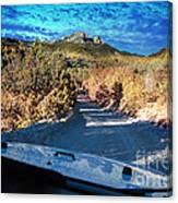 Offroad Driving View From Inside The Car Canvas Print