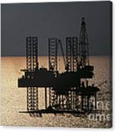 Offshore Drill Rig Platform Canvas Print