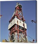 Offshore Drilling Tower Canvas Print