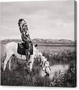 Oglala Indian Man circa 1905 Canvas Print