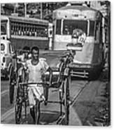 Oh Calcutta Monochrome Canvas Print