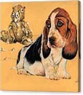 Ohhh Eee Teddy Bear Canvas Print