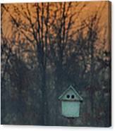 Ohio Bird House At Sunset Canvas Print