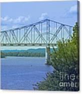 Ohio River Crossing Canvas Print