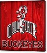 Ohio State Buckeyes Barn Door Vignette Canvas Print