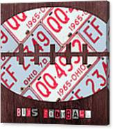 Ohio State Buckeyes Football Recycled License Plate Art Canvas Print