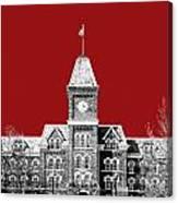 Ohio State University - Dark Red Canvas Print