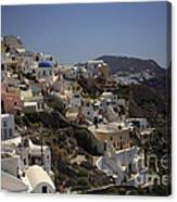 Oia By Day Canvas Print