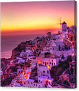 Oia Sunset Canvas Print