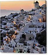 Oia Town During Sunset Canvas Print
