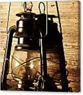 Oil Lantern Canvas Print