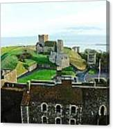 Oil Painting - Aerial View Of Dover Castle Canvas Print
