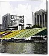 Oil Painting - Floating Platform In The Marina Bay Area In Singapore Canvas Print