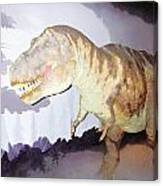 Oil Painting - Thankfully This T Rex Is A Dummy Canvas Print