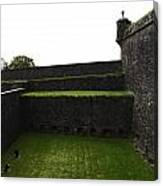 Oil Painting - The Depth Of The Moat Now Covered With Grass At Stirling Castle Canvas Print