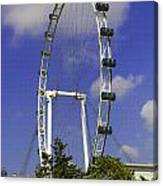 Oil Painting - The Wheel Of Singapore Flyer Canvas Print