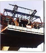 Oil Painting - Bridge As A Part Of Construction Canvas Print