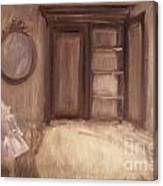 Oil Painting Of A Bedroom/ Digitally Painting Canvas Print
