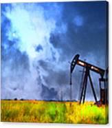 Oil Pump Field Canvas Print