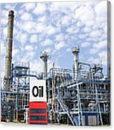 Oil Refinery And Industries Canvas Print
