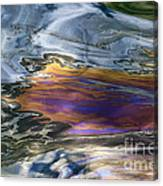 Oil Slick Abstract Canvas Print