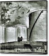 Oil Storage Tanks 1 Canvas Print