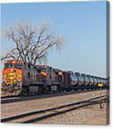 Bnsf Oil Train In Dilworth Minnesota Canvas Print