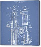 Oil Well Pump Patent From 1912 - Light Blue Canvas Print