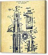 Oil Well Pump Patent From 1912 - Vintage Canvas Print